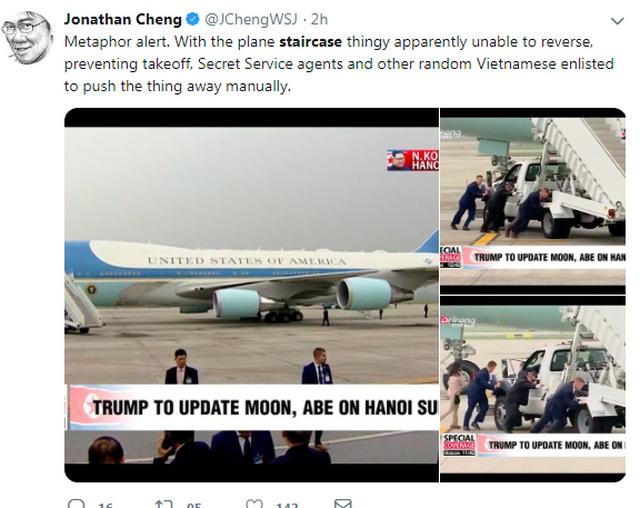 Xe thang chuyên cơ của Tổng thống Trump gặp trục trặc tại sân bay - 1