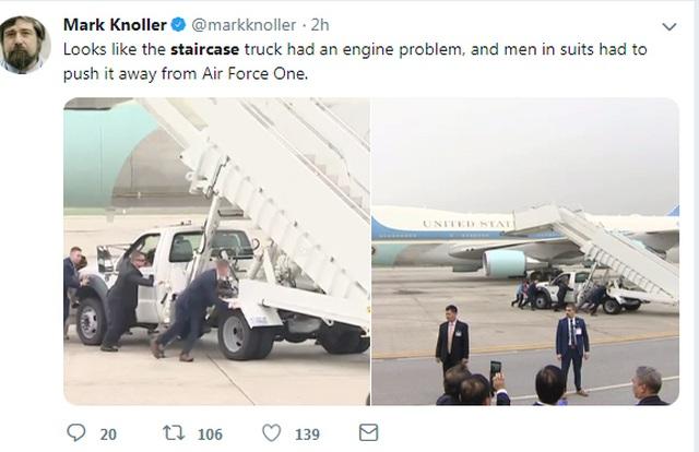 Xe thang chuyên cơ của Tổng thống Trump gặp trục trặc tại sân bay - 2