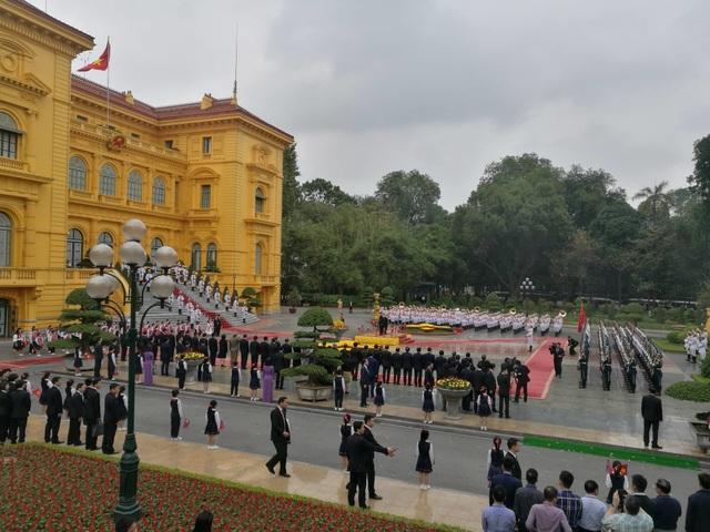 Lễ đón chính thức Chủ tịch Triều Tiên Kim Jong-un tại Phủ Chủ tịch - 1