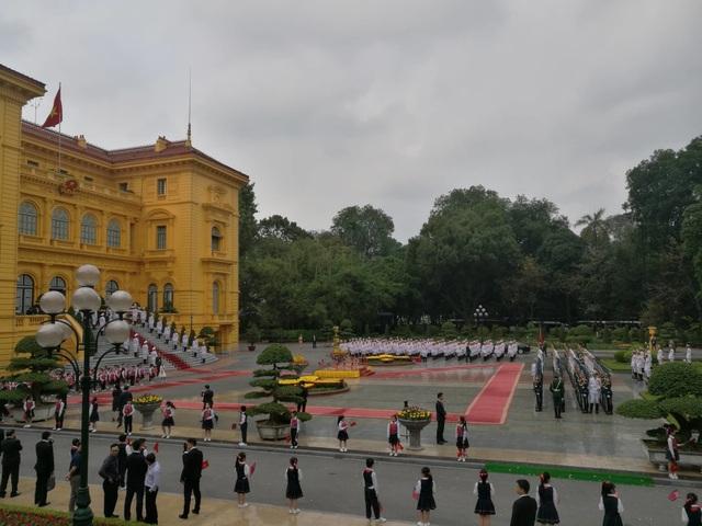 Lễ đón chính thức Chủ tịch Triều Tiên Kim Jong-un tại Phủ Chủ tịch - 9