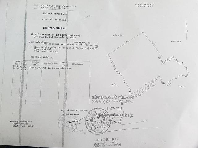 Bị quy kết xây nhà không phép ngay trong Kinh thành Huế, Bộ chỉ huy quân sự nói gì? - 4