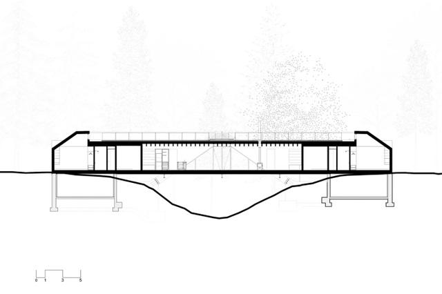 Độc đáo ngôi nhà có kiến trúc như một... cây cầu  - 2