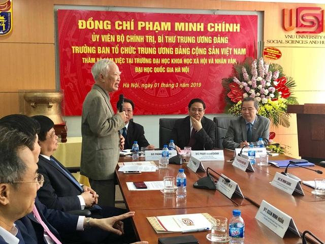 Trưởng ban Tổ chức TƯ Phạm Minh Chính làm việc tại trường ĐH KH Xã hội và Nhân văn - 1