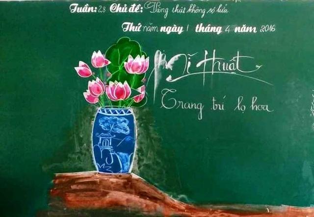 Thầy giáo 8X vẽ tranh bằng phấn trắng trên bảng đen - 11