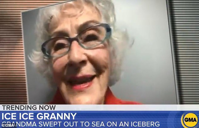 """Cụ bà ngồi trên tảng băng tạo dáng như """"nữ hoàng"""" và cái kết bất ngờ  - 3"""