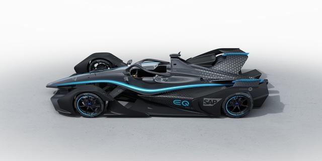 Mercedes-Benz giới thiệu mẫu xe đua chạy điện đầu tiên của hãng - 2