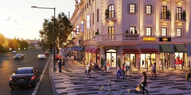"""Tiểu khu Elysee sẽ hóa thành """"đại lộ Champ de Elysee""""– dãy phố rực rỡ các cửa hàng, cửa hiệu thời trang.jpg"""