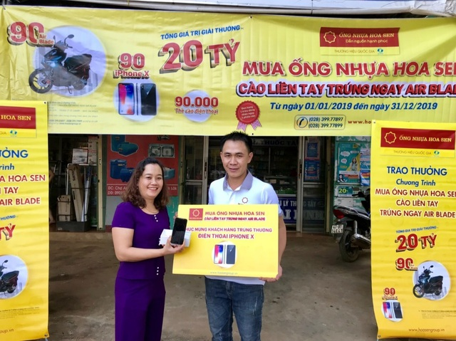 Nhiều khách hàng may mắn trúng xe Air Blade và điện thoại Iphone X khi mua Ống nhựa Hoa Sen - 3