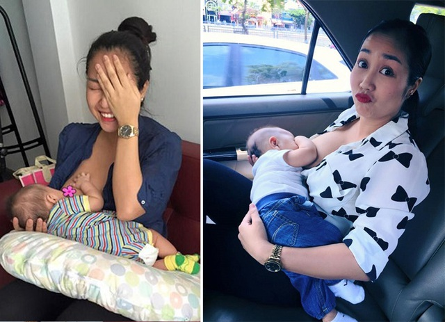 Khoảnh khắc đẹp của sao nữ Việt khi khoe ảnh... đang cho con bú - 8