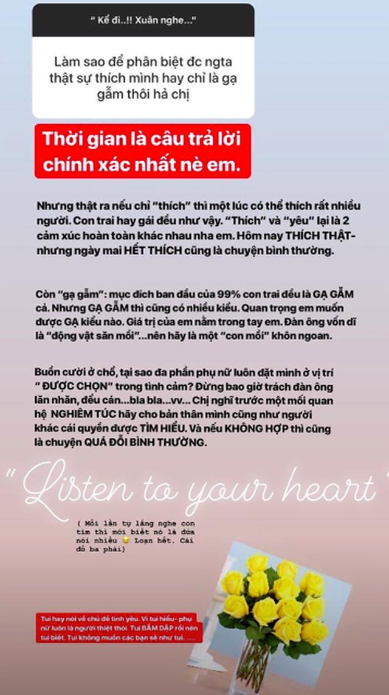 Bạn gái Lâm Tây tâm sự từng bầm dập vì tình yêu, chia sẻ kinh nghiệm tình trường với fan - 4