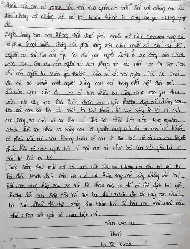 Những dòng thư thấm đẫm nước mắt của nữ sinh lớp 8 mồ côi - 3