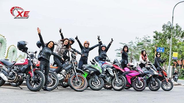 Quý cô Hà Nội chơi mô tô ngầu và chất khiến nam nhân phải nể phục - 1