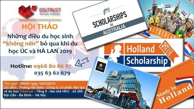 Những điều du học sinh không nên bỏ qua khi du học Hà Lan và Úc năm 2019 - 1