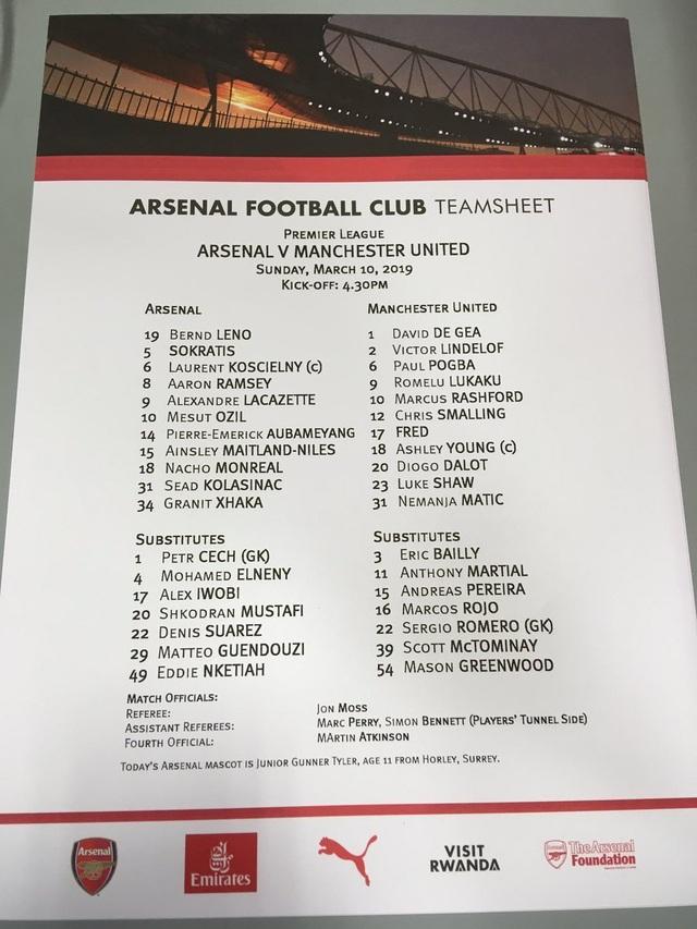 Arsenal 2-0 Man Utd: Trả giá vì những sai lầm - 13