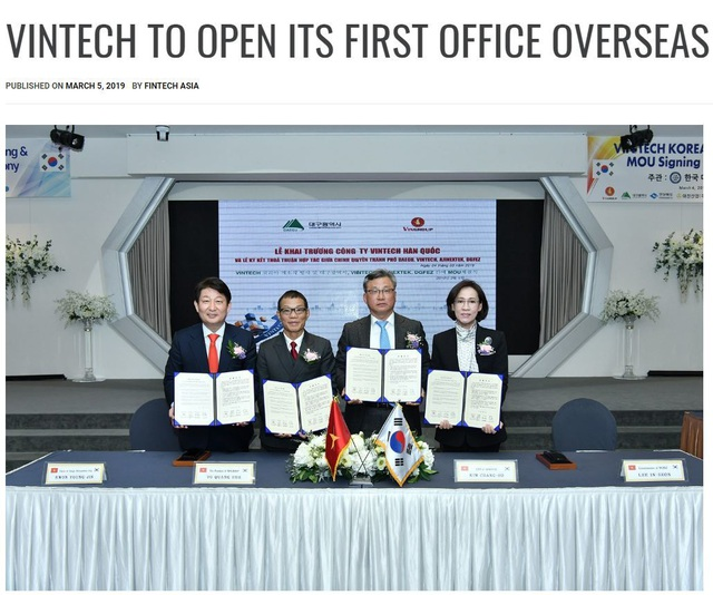 Báo quốc tế: Thành lập VinTech Hàn Quốc giúp Vingroup sở hữu công nghệ hiện đại nhất thế giới - 1