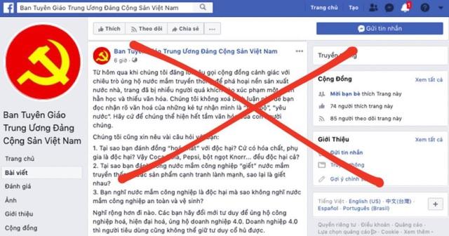 Ban Tuyên giáo Trung ương bị giả mạo tài khoản Facebook  - 1