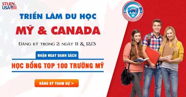 Nhận danh sách học bổng TOP 100 trường Mỹ tại triển lãm du học Mỹ  Canada 2019 - 1