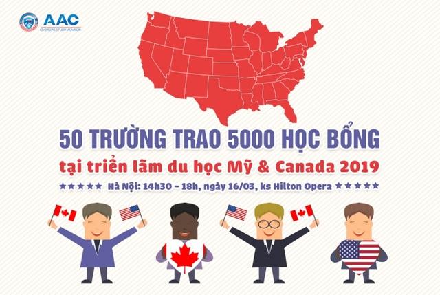"""Săn 5000 học bổng """"khủng"""" tại triển lãm Mỹ  Canada 2019 - 1"""