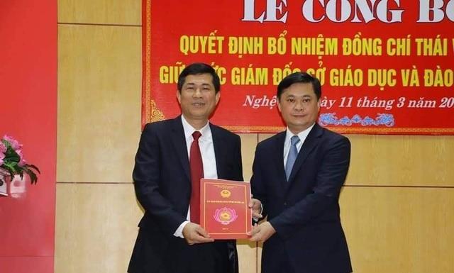 Ông Thái Văn Thành – Phó hiệu trường trường Đại học Vinh  được bổ nhiệm làm Giám đốc Sở Giáo dục và Đào tạo tỉnh Nghệ An.