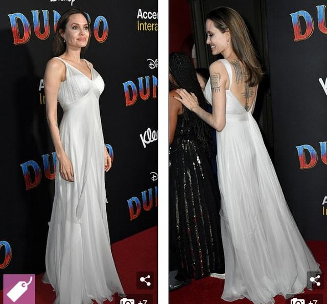 Angelina Jolie khoe hình xăm khủng  - 3