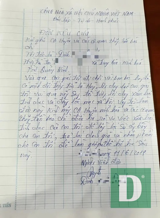 Gia đình bé gái 16 tuổi cầu cứu vì con bị hãm hiếp rồi tung clip lên mạng - 1