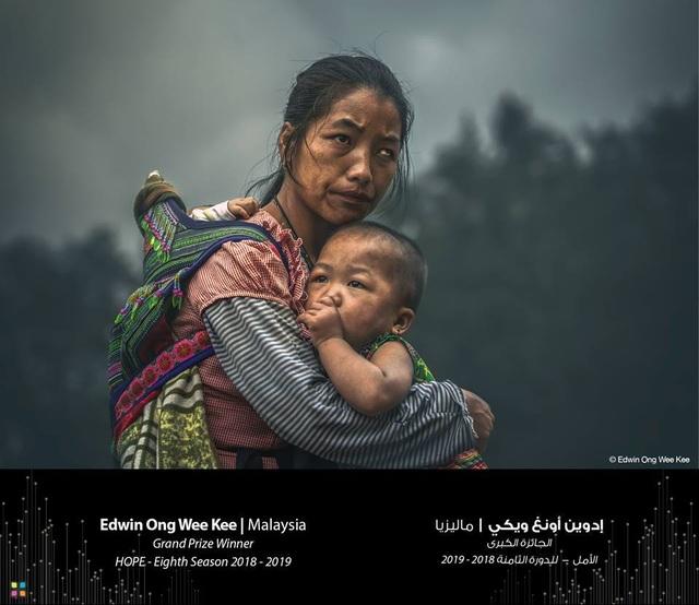 Bức chân dung mẹ con dân tộc H