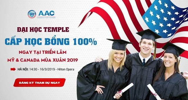 Đại học Temple cấp học bổng 100% ngay tại triển lãm 50 trường Mỹ  Canada - 1