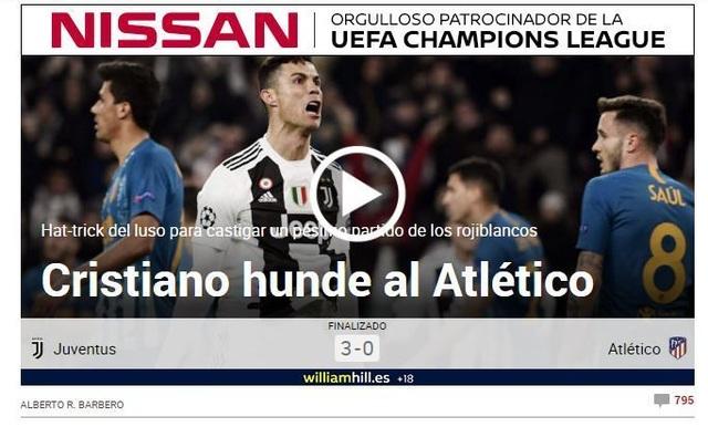 """Báo chí thế giới ngả mũ, gọi C.Ronaldo là """"gã đao phủ"""" - 1"""