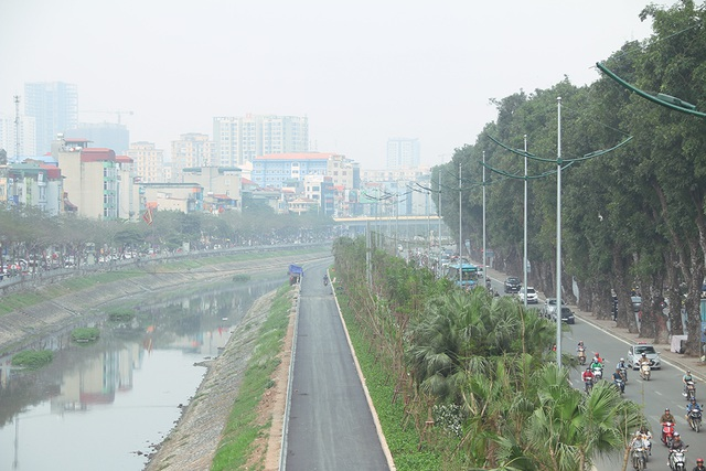 Toàn cảnh con đường dọc sông Tô Lịch chỉ để đi bộ, đi xe đạp - 2