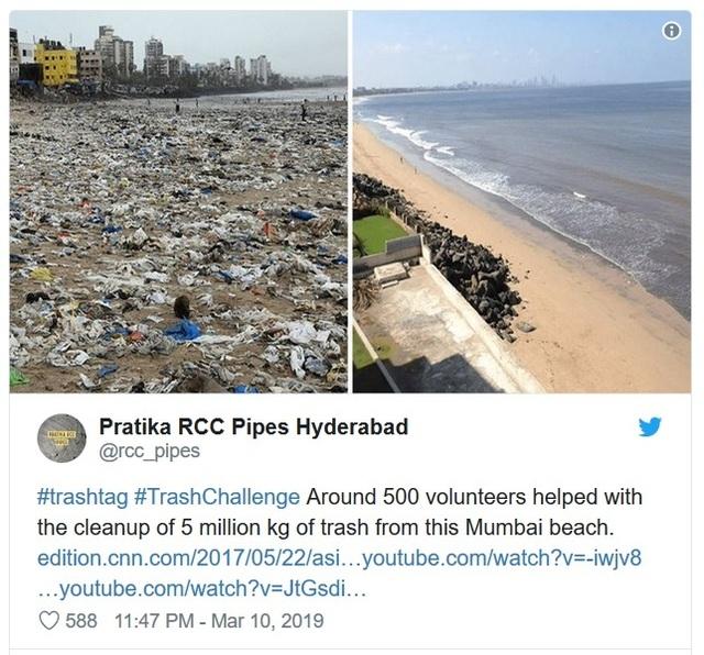 """Trào lưu """"Thử thách dọn rác"""" đang lan truyền mạnh mẽ trên cộng đồng mạng - 4"""