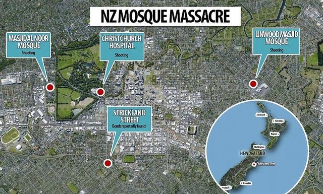 Xả súng liên tiếp ở New Zealand, có tới 30 người có thể đã thiệt mạng - 1