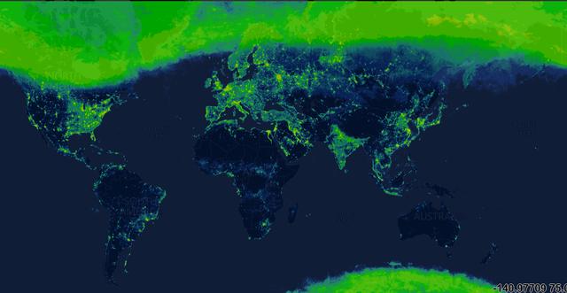 Một loại bản đồ mới thể hiện mức độ ô nhiễm ánh sáng toàn cầu - 1