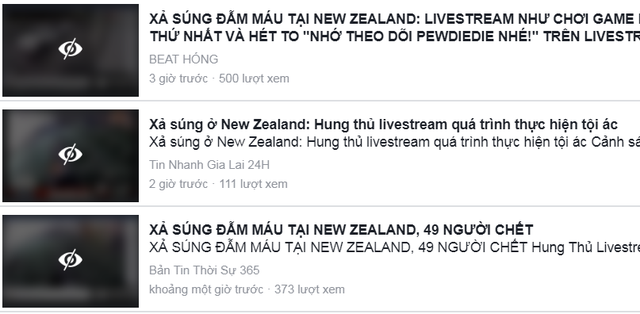 Video vụ xả súng ở New Zealand vẫn liên tục được chia sẻ trên YouTube, Facebook - 3