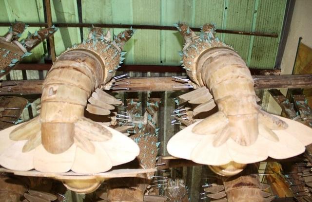 Độc đáo những con tôm hùm làm từ... tre trông thật đến ngỡ ngàng   - 6