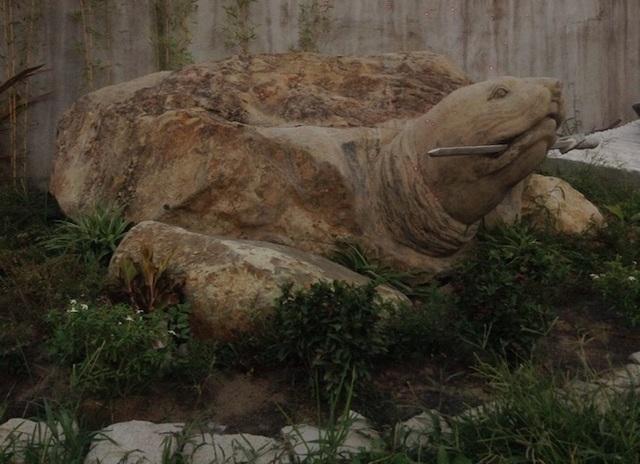 """Ảnh: Cận cảnh rùa đá """"Hồn thiêng đất Việt"""" nặng 20 tấn, 600 triệu không bán - 10"""