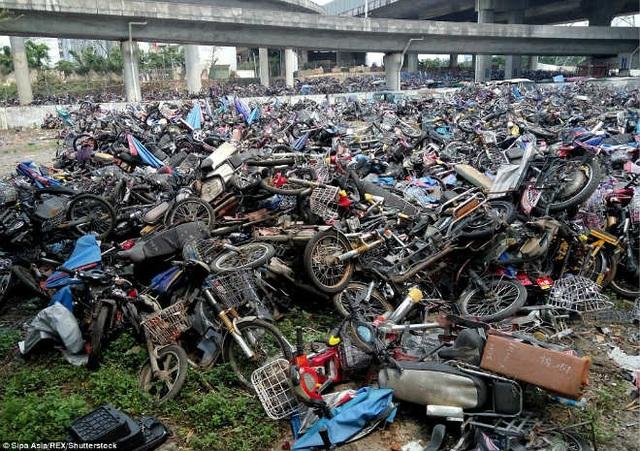 Cận cảnh nghĩa địa xe máy khổng lồ tại Trung Quốc - 4