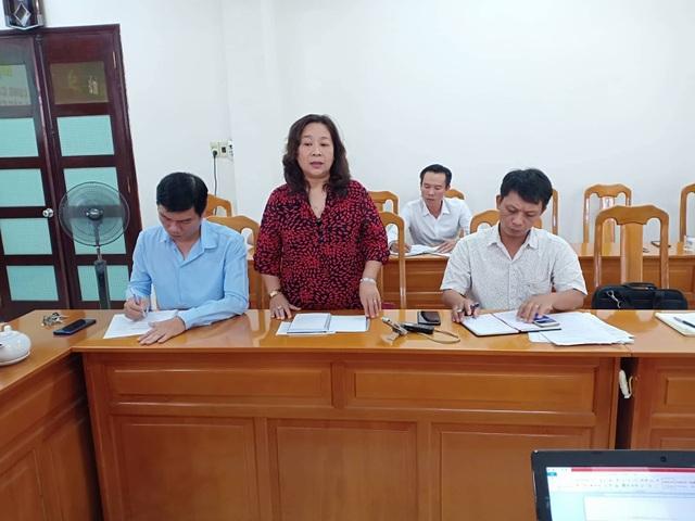 bà Nguyễn Thị Bích Hoàn - Phó giám đốc Sở