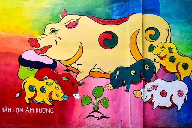 Ngõ nhỏ Hà Nội sống động với con đường bích họa xác pháo đài bay B52  - 10