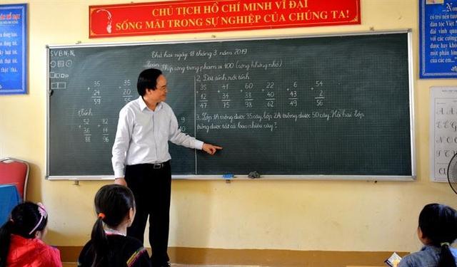 Bộ trưởng Phùng Xuân Nhạ: Không để sĩ số lớp học đông khi sáp nhập trường - 1