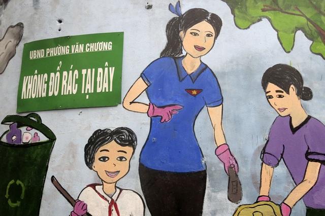Hàng loạt tranh tường chống bãi rác tự phát bừa bãi ở Hà Nội - 4