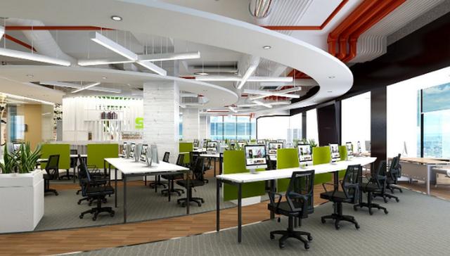 Hình ảnh minh họa văn phòng cho thuê với nội thất đầy đủ