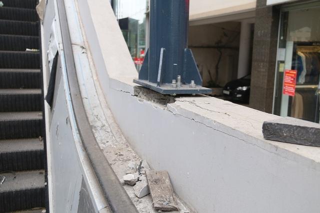 Nhiều chi tiết nhà ga tàu điện Cát Linh - Hà Đông đã hư hỏng - 6