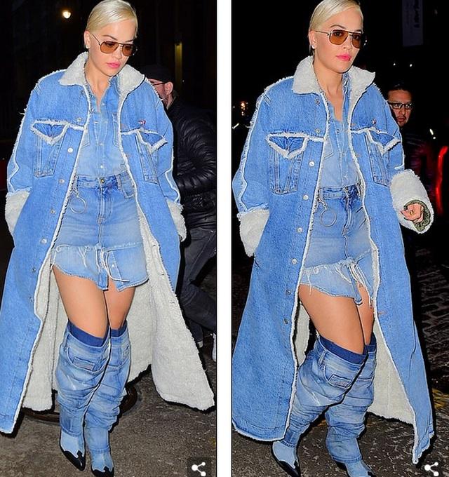 Rita Ora ấn tượng với cây đồ Jeans - 2