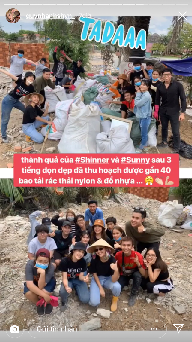 Quỳnh Anh Shyn Chi Pu thử thách dọn rác4.PNG