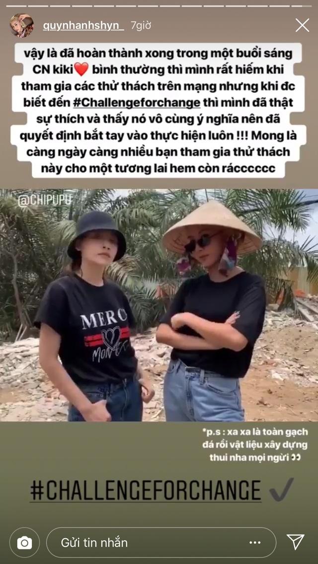 Quỳnh Anh Shyn Chi Pu thử thách dọn rác5.jpg