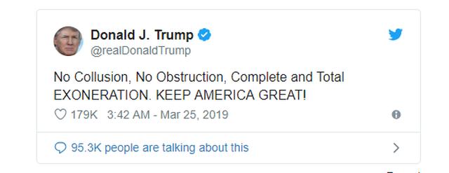 Công tố viên đặc biệt khẳng định ông Trump không thông đồng với Nga - 3