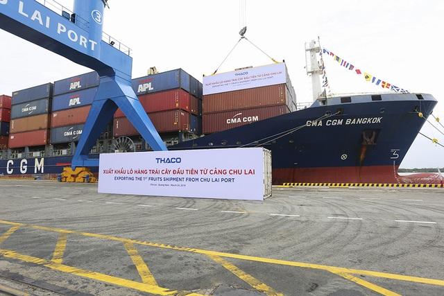 30 container chuối trị giá hơn nửa triệu USD vừa được xuất khẩu từ cảng Chu Lai (Quảng Nam).