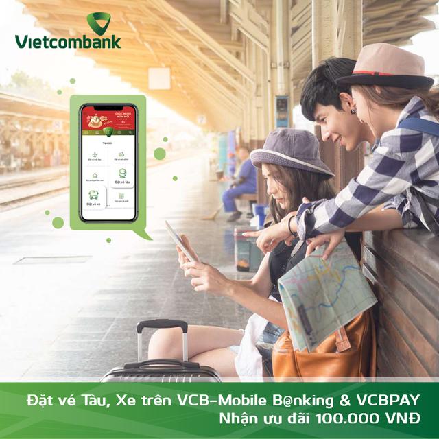 Vietcombank mở rộng triển khai tính năng Đặt vé tàu, xe trên VCBPAY - 1