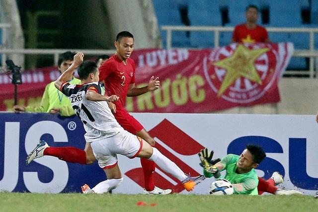 Bị đuổi 1 người, U23 Indonesia giành 3 điểm hú vía trước U23 Brunei - 3