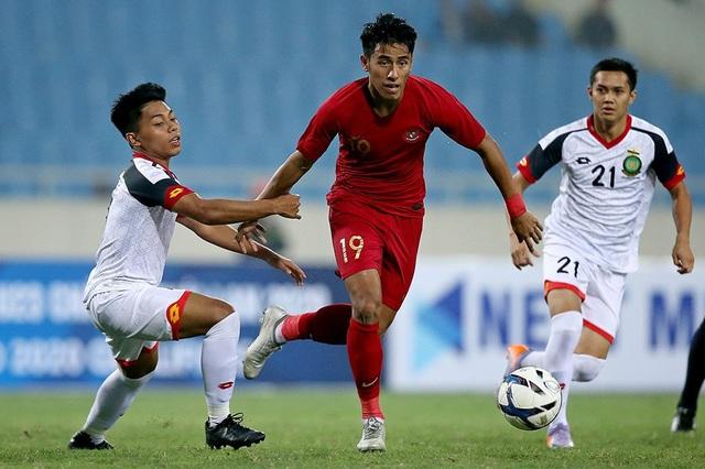 Bị đuổi 1 người, U23 Indonesia giành 3 điểm hú vía trước U23 Brunei - 7